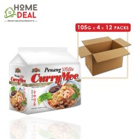 Ibumie - Penang White Curry Mee - 105 grams x 4 x 12 packs (Wholesale)