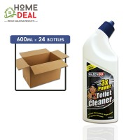 Kleenso - 3x Power Toilet Cleaner 600ml x 24 bottles (Wholesale)