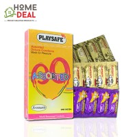 Playsafe - Assorted Deluxe Condoms (Campuran 3 Jenis Kondom) 12's