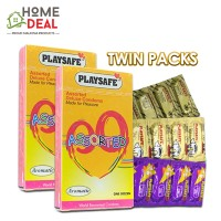 Playsafe - Assorted Deluxe Condoms 12's TWINPACKS