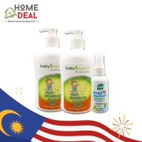 Baby Organix Extra Gentle Top To Toe Cleanser -Cucumber (400ml) TWINPACK with Hand Sanitising Water 60ml