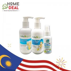 Baby Organix Gentle Hair Shampoo 250ml / Baby Organix Hydrating Cream Bath 250ml with Hand Sanitiser 60ml