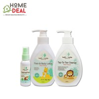Kath + Belle Top to Toe Cleanser - Peach (250ml) / Kath + Belle Face and Body Lotion (Peach) 250ml with Kath Belle Hand Sanitizing Mist