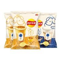 Lay's Milk Tea Chips (5packs) 65g 乐事薯片烤布蕾奶茶/咖啡乌龙奶茶