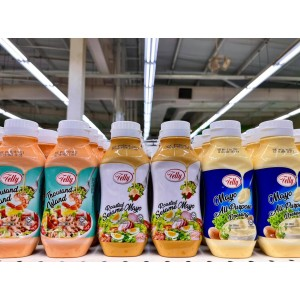 Telly Roasted Sesame Mayo Squeeze Pack 280ml / Salad Dressing / Mayonnaise