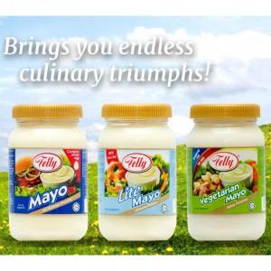 Telly Salad Dressing Vegetarian Mayo 230ml (TWINPACK) Mayonnaise / No Egg / Sayuran
