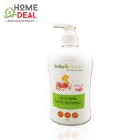 Baby Organix Extra Gentle Top to Toe Cleanser 400ml (Rose Oil) (Baby Organix润滑玫瑰油)