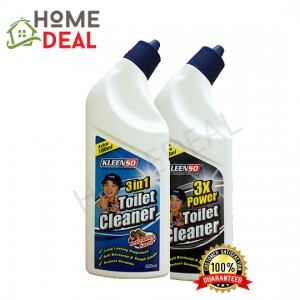 KLEENSO 3 IN 1 TOILET CLEANER-SARSI &3X POWER TOILET CLEANER 600ML (Kleenso 3合1 清洗厕所液体 & 3X Power 清洗厕所液体)