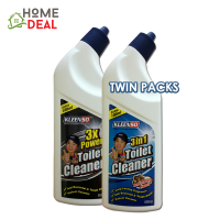 KLEENSO BLEACH TOILET CLEANER-BLEACH&3X POWER TOILET CLEANER 600ML (Kleenso厕所漂白剂&3XPower清洗厕所液体600ml)