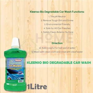 Kleenso Biodegradable Car Wash 1 liter (Kleenso可生物降解洗车液)