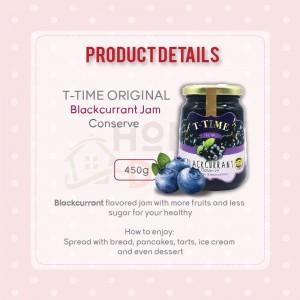 T-Time Blackcurrant Conserve Jam 450g (T-Time黑醋栗果酱)
