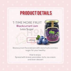 T-Time Blackcurrant More Fruit Less Sugar (MFLS) 450g (T-Time黑醋栗少糖果酱)