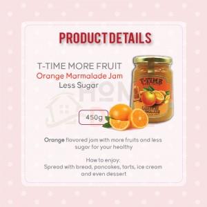 T-Time Orange Marmalade More Fruit Less Sugar (MFLS) 450g (T-Time少糖橙果酱)
