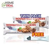 (TWIN PACK) Merba Nougatelli Cookies FREE 1x Maison de Gigi Premix Coffee (摩巴牛轧糖曲奇饼干免费Maison de Gigi摩卡咖啡粉一包)